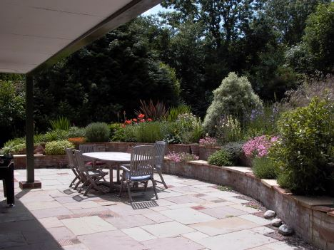Rear patio of The Paddock B&B Henley on Thames